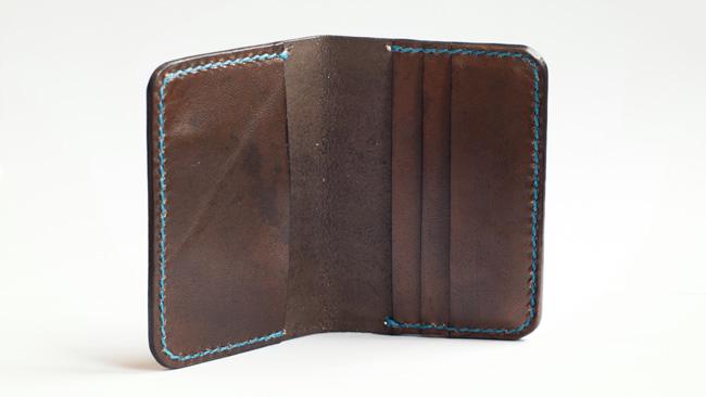 Diseño de cartera monedero de cuero
