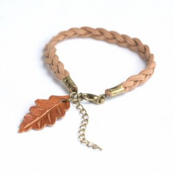 Pulsera single oak trenza clara