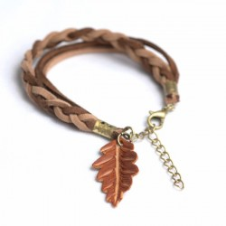 Pulsera single oak trenza mixta