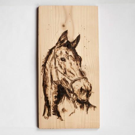 Pirograbado caballo