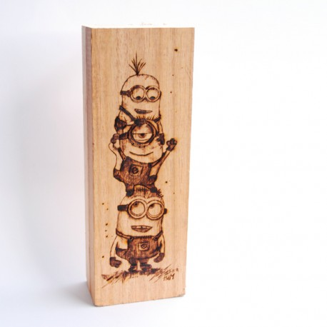 Pirograbado Minions