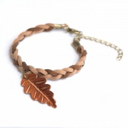 Pulsera single oak trenza sencilla