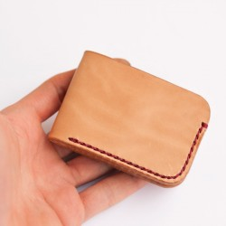 Mini cartera billetera de cuero