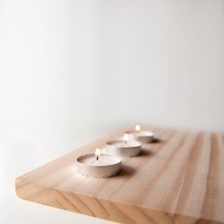Wooden lights triple