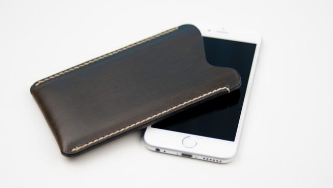 Funda de cuero para iPhone 6