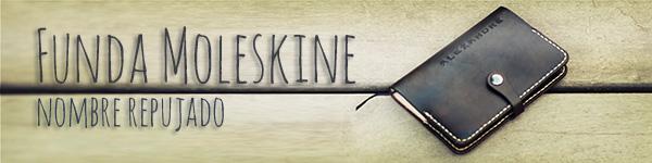 Funda de cuero para libreta Moleskine